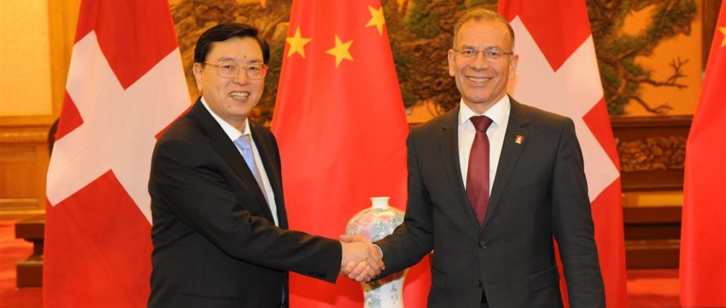 Offizieller Besuch des Ständeratspräsidenten Hannes Germann in China 19.07.2014