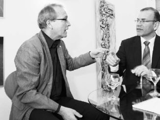 Lebhafter Argumentenaustausch zwischen Hans-Jürg Fehr (links) und Hannes Germann. (Bild Selwyn Hoffmann)