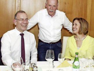 Hannes Germann (l.), Hansjörg Rellstab und Veronika Hintermann.Bild Urs Helstein