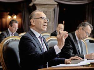 Ständerat Hannes Germann (SVP/SH) plädierte gestern dafür, dass die Schweiz den UNO-Migrationspakt nicht unterzeichnet. BILD KEY