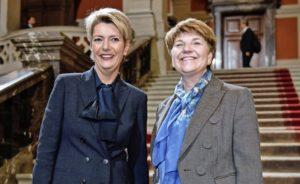 Die neuen Bundesrätinnen Karin Keller-Sutter und Viola Amherd. BILD KEY