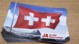 Am 19. Mai stimmen die Schweizer Stimmbürger über die AHV-Steuervorlage ab. © KEYSTONE/PETER KLAUNZER