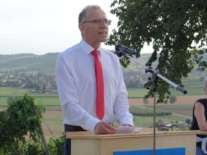 Hannes Germann bei der 1. Augustansprache in Oberhallau