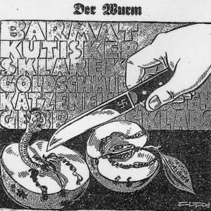 Der Jude als apfelfressender Wurm: Karikatur aus der ¬Nazi-Wochenzeitung «Der Stürmer», 1931. BILD ZVG