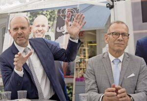 Die Bisherigen: Thomas Hurter (l.) und Hannes Germann. BILD FLAVIA GROSSENBACHER